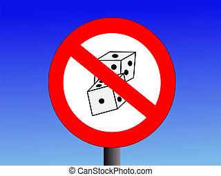 juego, no, señal