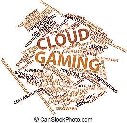 juego, nube