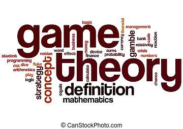 juego, palabra, teoría, nube