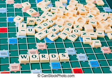 juego, palabras