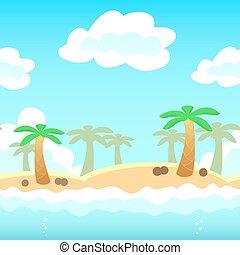 juego, playa, plano de fondo