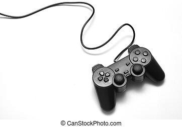 juego, vídeo, controlador