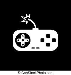 juego, vídeo, icono