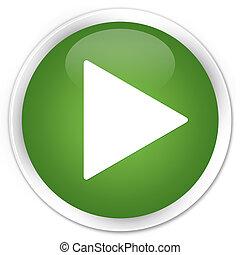 juego, verde, botón