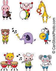 juegue música, animal