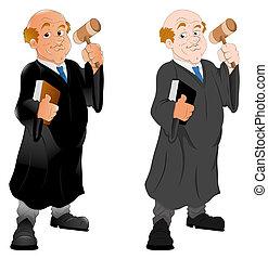 juez, carácter, caricatura