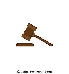 juez, hummer, icon., subasta