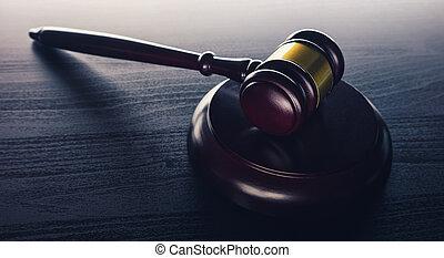 juez, martillo, ley, concepto, imagen