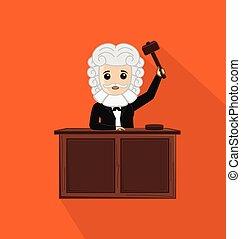 juez, martillo, tenencia