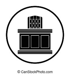 juez, tabla, icono