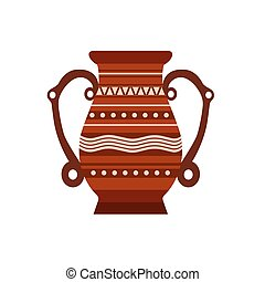 Jug clay vector pottery pot vase illustration ceramic pither milk. Ancient isolated jar old icon brown.