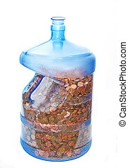 Jug full of pennies