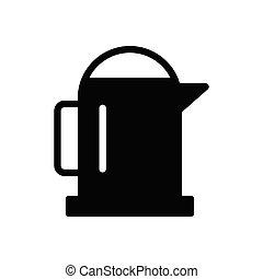 jug  glyph flat icon