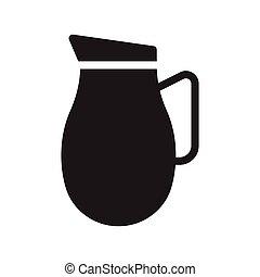 jug glyph flat vector icon