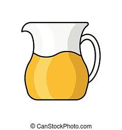 jug line flat icon