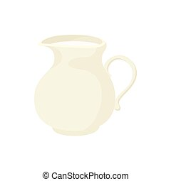 Jug of milk icon, cartoon style