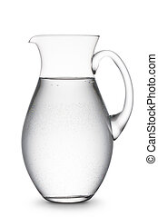 jug of water - jug full of natural water, on white...