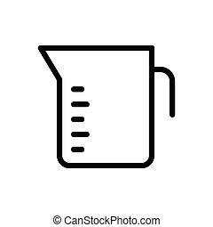 jug thin line icon