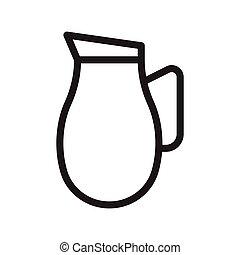 jug thin line vector icon
