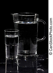Jug With glass and water