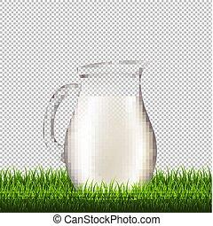 Jug With Grass Border Transparent Background
