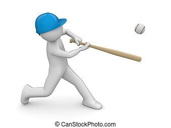 jugador béisbol, -, deportes, colección