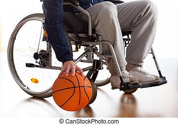jugador, baloncesto del sillón de ruedas