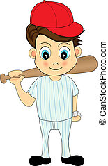 jugador, beisball, caricatura