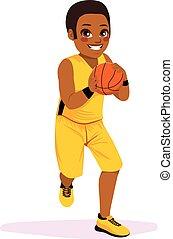 jugador, corriente, baloncesto