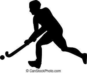 jugador de hockey sobre césped