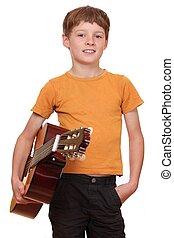 jugador de la guitarra