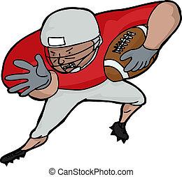 Jugadores Futbol Americano Caricatura Diente Futbol Diente