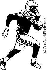 jugador del fútbol americano, ilustración