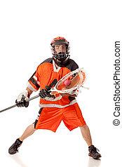 jugador del lacrosse