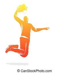 jugador del voleibol, diseño
