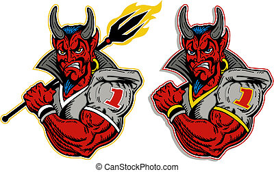 jugador, diablo, fútbol