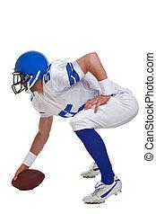 jugador, fútbol americano, recortar