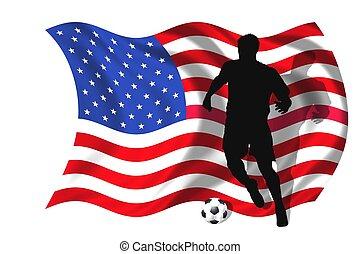 jugador, futbol, estados unidos de américa