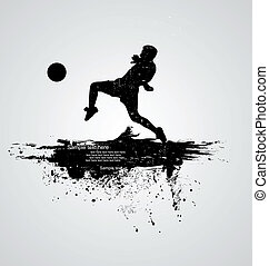 jugador, futbol, vector