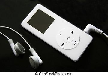 jugador, ipod, mp3