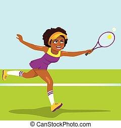 jugador, mujer profesional, tenis