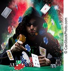 jugador, póker