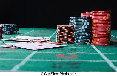 jugador, póker, lugar