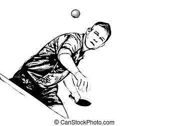 jugador, pong, ping