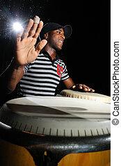 jugador, tambores