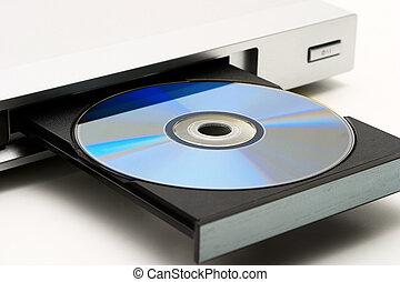 jugador, unidad de disco, dvd