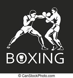 jugadores, boxeo, juegos, lucha, deportista