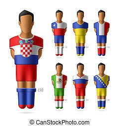 jugadores, fútbol americano del fútbol, /