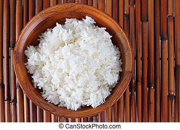jugar a los bolos de, cocinado, arroz