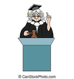 juge, à, marteau, marques, verdict, pour, droit & loi